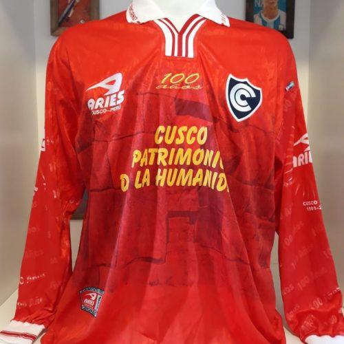Camisa Cienciano Aries 2001 mangas longas
