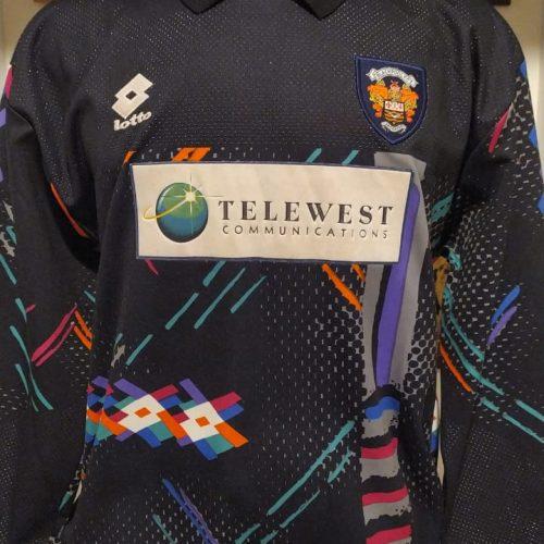 Camisa Blackpool Lotto 1997 goleiro mangas longas