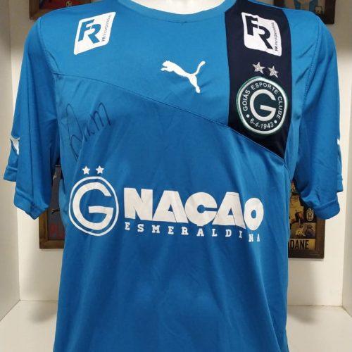 Camisa Goiás Puma Renan goleiro autografada