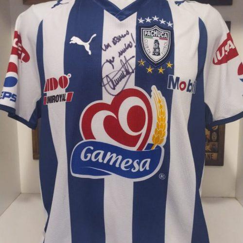 Camisa Pachuca Puma 2008 Giménez autografada