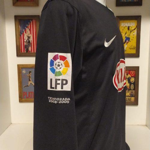 Camisa Atlético de Madrid Nike 2008 Leo Franco goleiro mangas longas