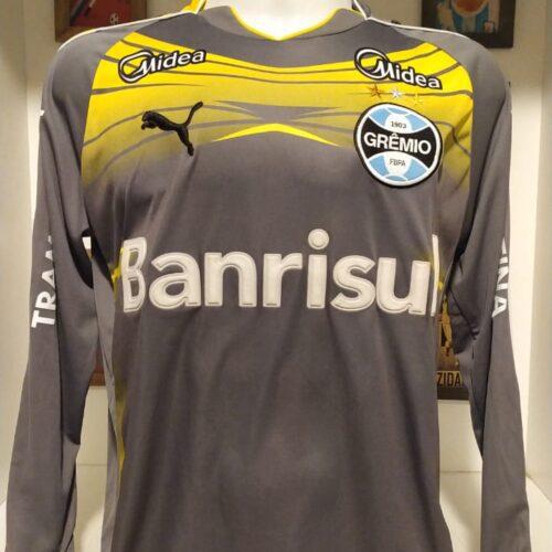 Camisa Grêmio Puma 2010 goleiro cinza mangas longas