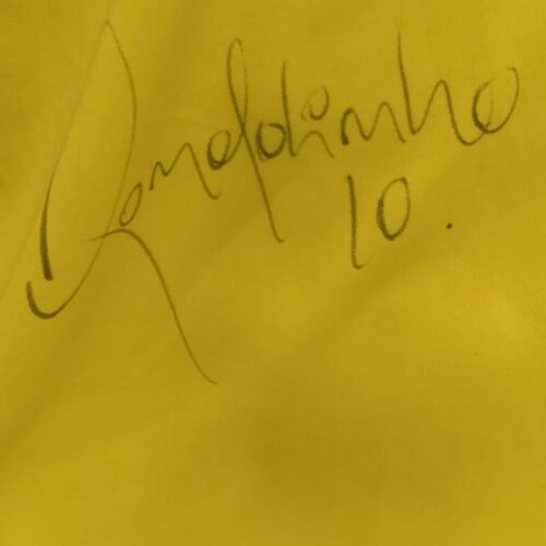Camisa Barcelona Nike 2005 Ronaldinho autografada