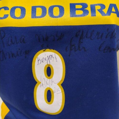 Camisa Brasil Olympikus Leila autografada volei