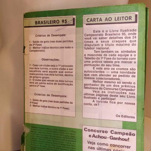 Álbum de figurinhas Campeonato Brasileiro 1995