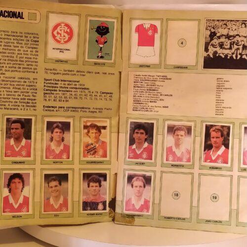 Álbum de figurinhas Campeonato Brasileiro 1989