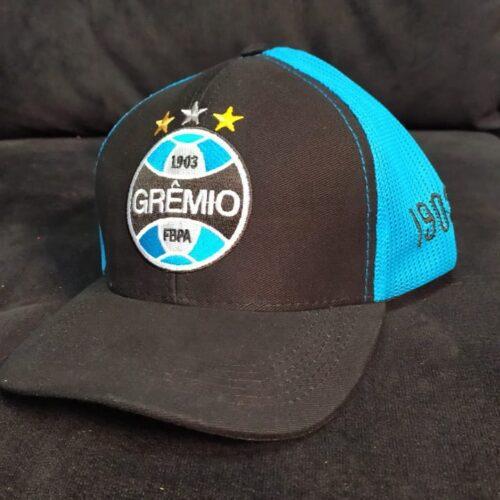 Boné Grêmio preto e azul