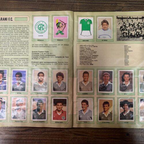 Álbum de figurinhas Campeonato Brasileiro 1990