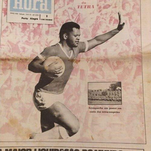 Jornal Zero Hora Internacional tetracampeão gaúcho 1972