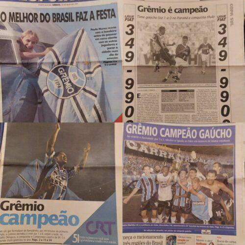 Jornais e pôsteres Grêmio 1995 a 2001