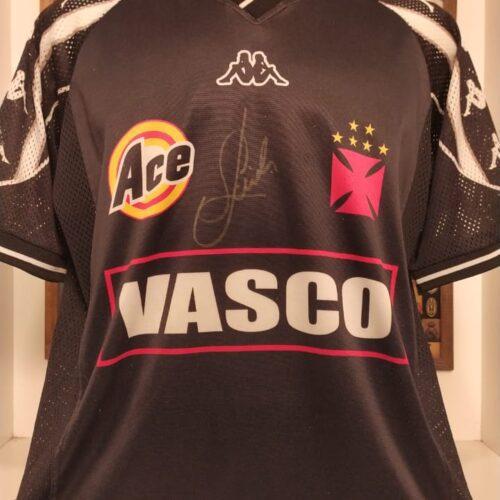 Camisa Vasco da Gama Kappa treino autografada