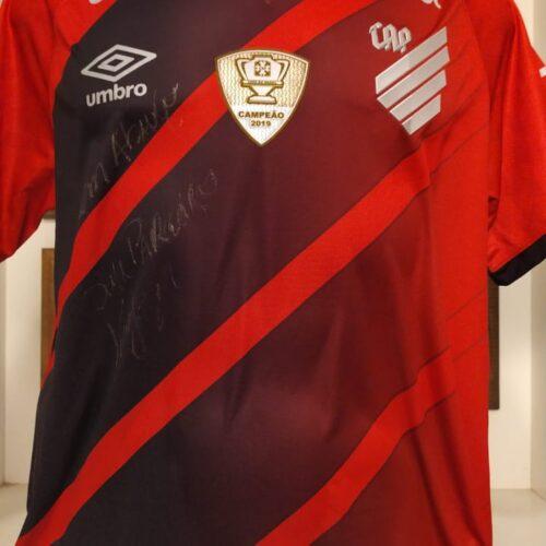 Camisa Athletico Paranaense Umbro 2020 Kaiser autografada