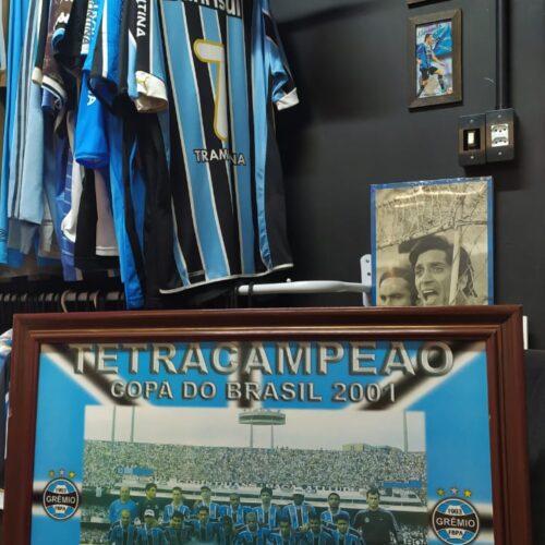 Quadro Grêmio tetracampeão da Copa do Brasil 2001