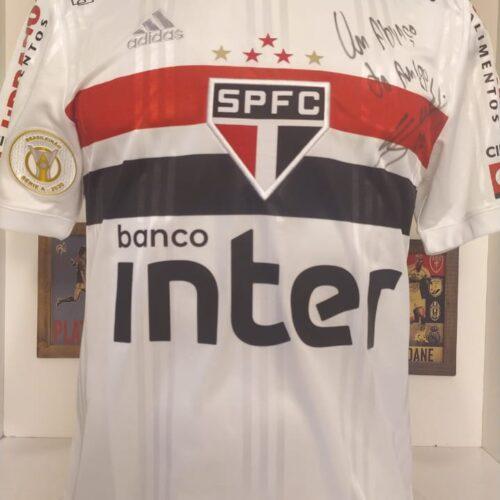 Camisa São Paulo Adidas 2020 Igor Vinicius Brasileirão autografada