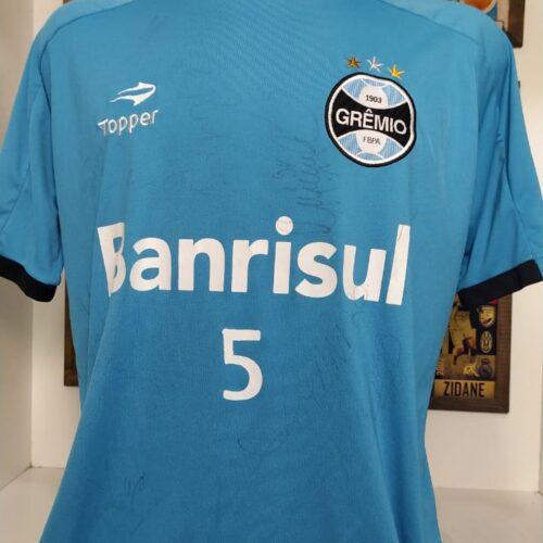 Camisa Grêmio Topper treino autografada