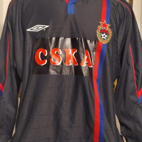 Camisa CSKA Umbro 2005 Samodin mangas longas