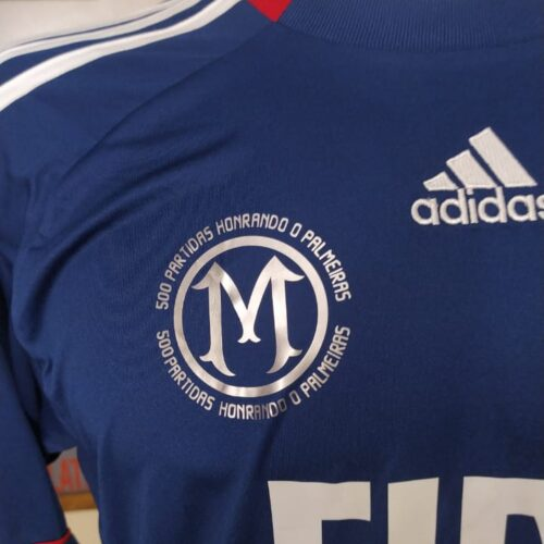 Camisa Palmeiras Adidas 2010 Marcos 500 jogos goleiro mangas longas