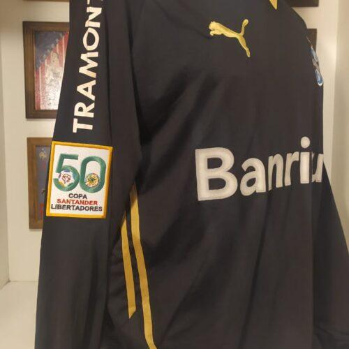 Camisa Grêmio Puma 2009 Victor autografada Libertadores da América goleiro mangas longas