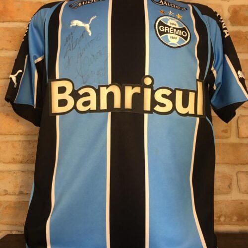 Camisa Grêmio Puma 2010 Lúcio autografada