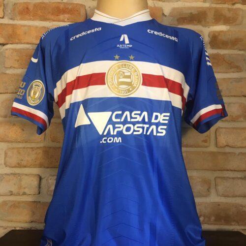 Camisa Bahia Umbro 2020 Gilberto Brasileirão terceiro uniforme