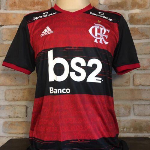 Camisa Flamengo Adidas 2020 Bruno Henrique