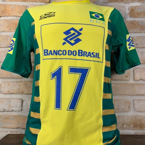 Camisa Brasil Olympikus 2007 Ricardinho vôlei masculino