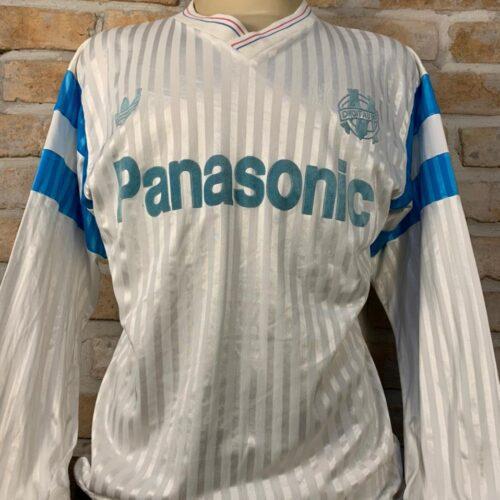 Camisa Olympique Marselha Adidas 1990 mangas longas