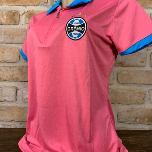 Camisa Grêmio polo feminina rosa