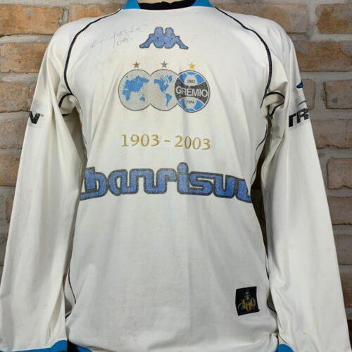 Camisa Grêmio Kappa 2003 Centenário autografada Ronaldinho