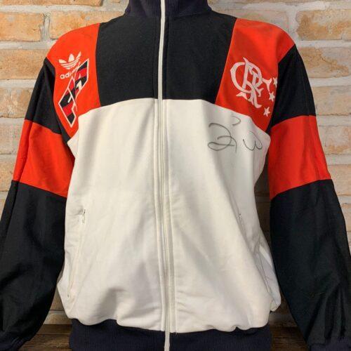 Agasalho Flamengo Adidas Zico autografado