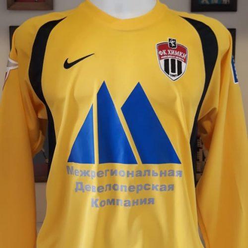 Camisa FC Khimki Adidas 2008 Nizamutdinov mangas longas