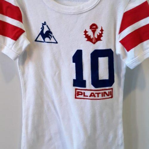 Camisa França Le Coq Sportif Michel Platini infantil