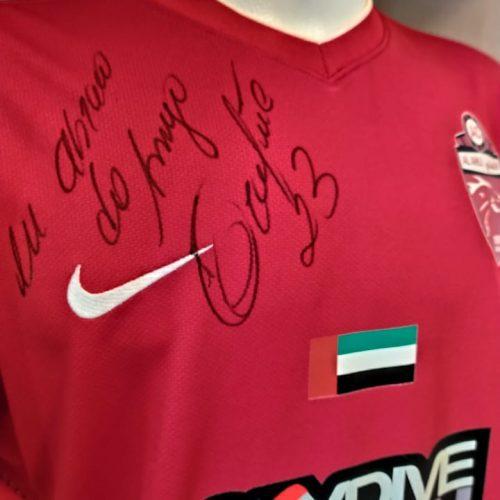 Camisa Al Ahli Nike 2012 Grafite autografada