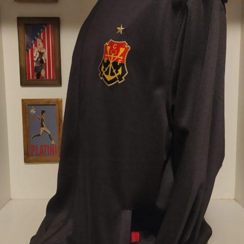 Jaqueta Flamengo Olympikus malha preta