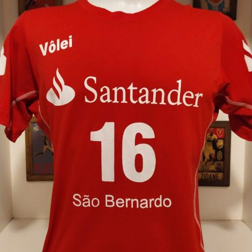 Camisa São Bernardo Santander feminina volei