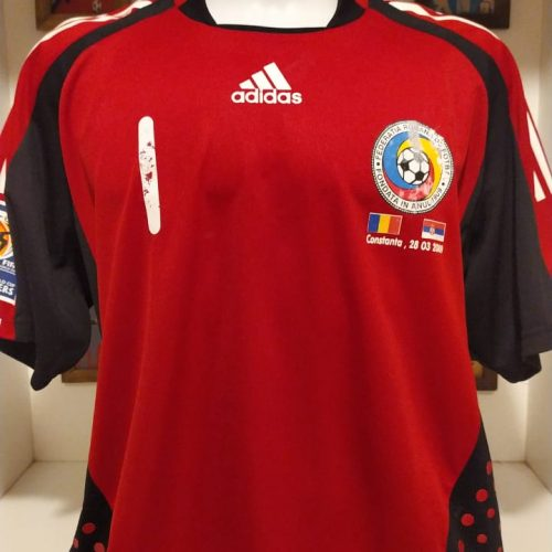 Camisa Romênia Adidas 2009 goleiro Lobont eliminatórias Copa do Mundo 2010