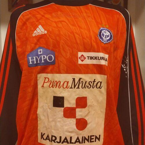 Camisa HJK Helsinki Adidas goleiro mangas longas