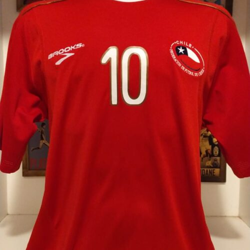 Camisa Chile Brooks 2010 Valdivia Copa do Mundo