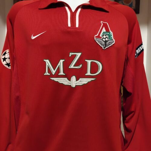 Camisa Lokomotiv Nike 2002 Mnguni Champions League mangas longas
