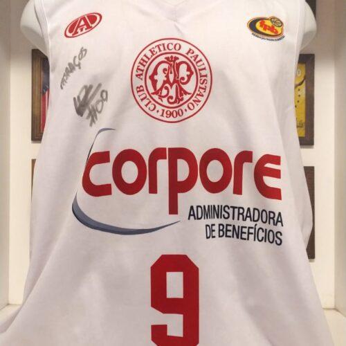 Camisa Paulistano Lucas Dias autografada basquete