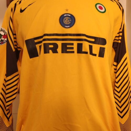 Camisa Internazionale Nike 2005 Julio Cesar goleiro mangas longas