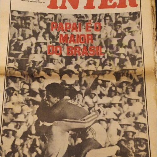 Jornal do Inter Internacional bicampeão nacional 1976