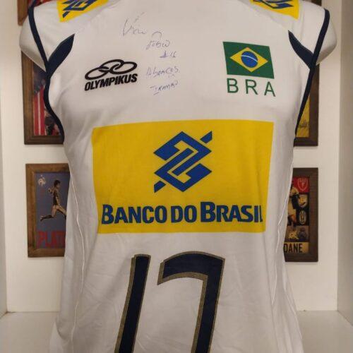 Camisa Brasil Olympikus Kaio volei autografada