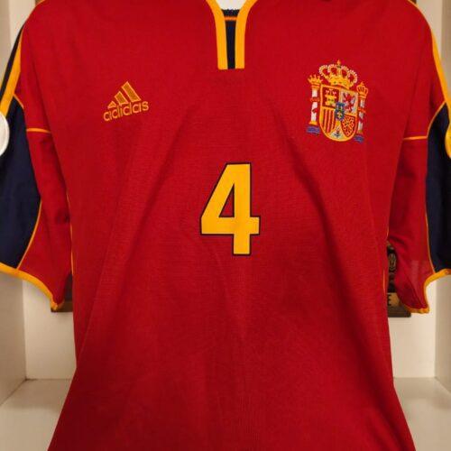 Camisa Espanha Adidas 1999 Guardiola Eurocopa 2000