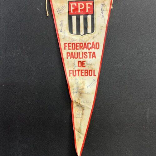 Flâmula Federação Paulista de Futebol autografada