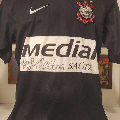 Camisa Corinthians Nike 2008 Cristian autografada