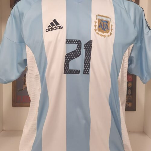 Camisa Argentina Adidas 2002 Caniggia