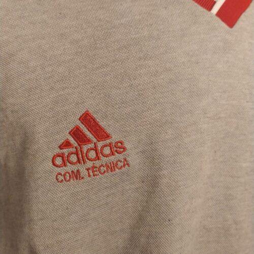 Camisa Internacional Adidas 1999 comissão técnica mangas longas