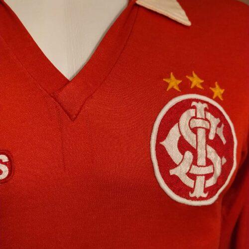 Camisa Internacional Olympikus 1985 Ademir Kaefer mangas lontgas