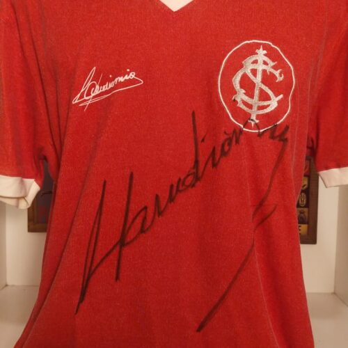 Camisa Internacional Reebok 1969 Claudiomiro retro autografada